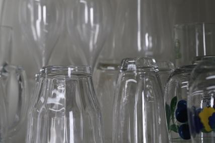 ガラスの食器