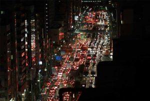 深夜の首都圏渋滞